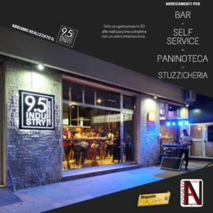 Arredamento per Bar, Self Service, Paninoteche, Stuzzicherie